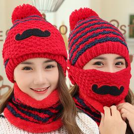 韩版潮骑车百搭针织保暖口罩帽子