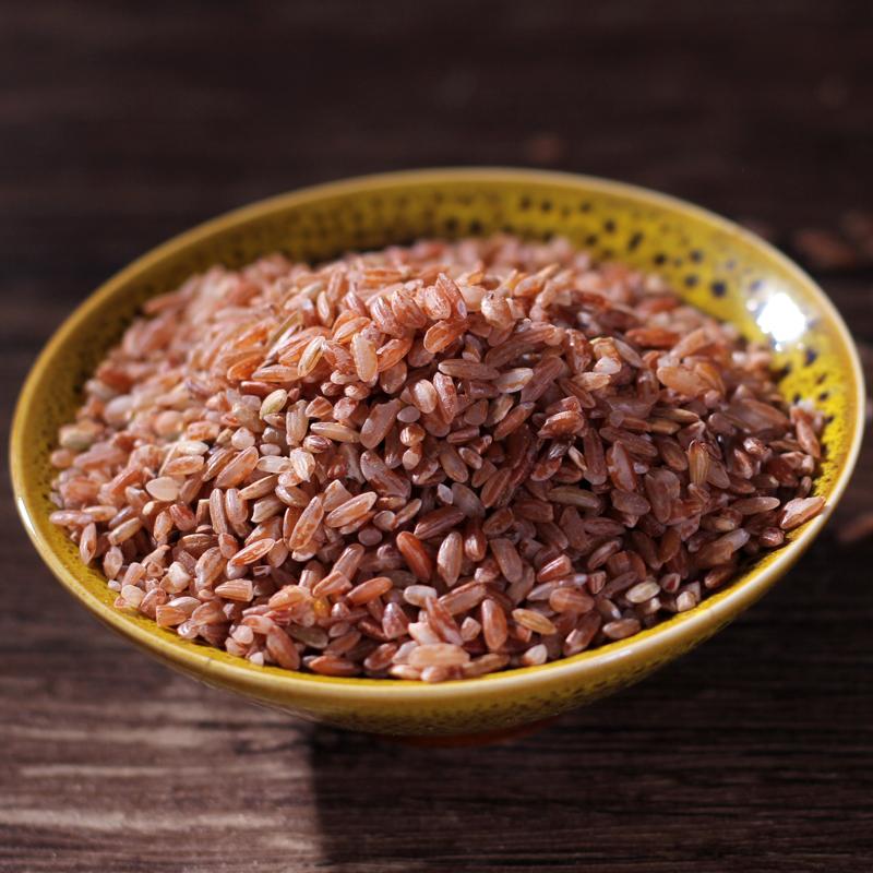 云南红米古种红软米哈尼梯田红糯米稀有杂粮营养红米500g新品特价