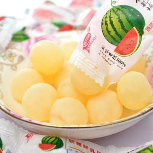 喜糖整袋西瓜味脆皮鲜乳球夹心软糖2500g每袋5斤装年货糖果包邮