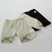 短裤 大码 保险裤 防走光女夏纯棉薄款 皱棉木耳边安全裤 韩国夏季新款
