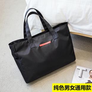防水健身包行李袋短途小容量手提旅行包男女生加厚尼龙布包妈咪