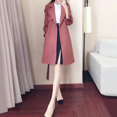 2017秋冬季新款韩版女装秋装外套女潮春季中长款小个子风衣女春秋