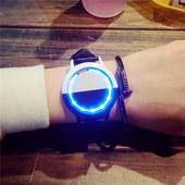 高科技产物LED灯 时尚百搭触摸屏手表创意智能简约手表男学生情侣