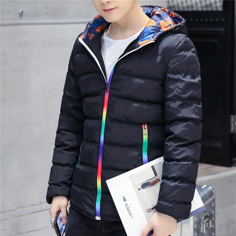反季清仓冬季男士羽绒服青年学生连帽短款修身韩版加厚保暖外套男