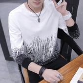 宽松潮流男士 t恤男秋装 加绒加厚衣服男装 上衣秋衣外穿韩版 长袖