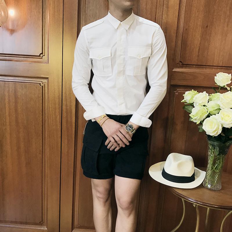 夏季轻熟男薄款男装长袖衬衫古伦仕设计师复古风格休闲百搭绅士衫