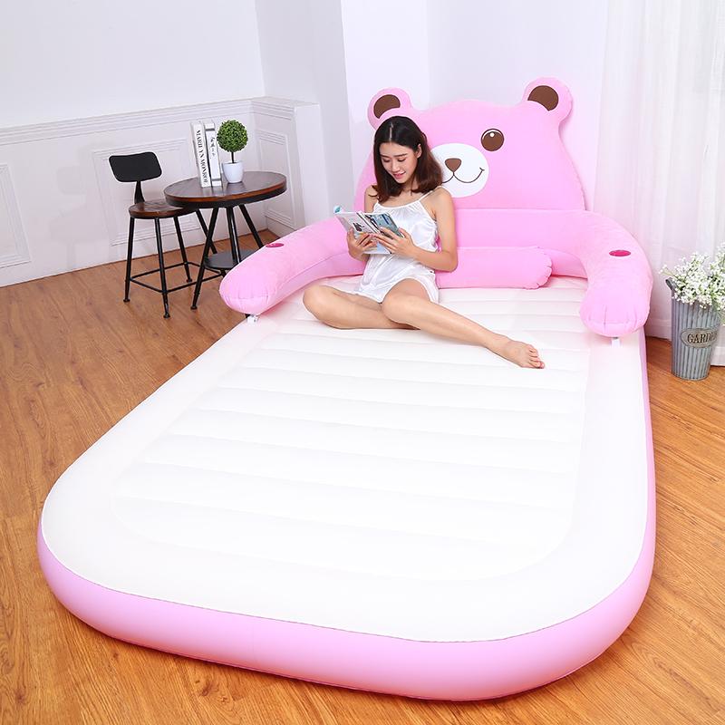 卡通充气床懒人沙发床单人双人龙猫气垫床可爱床冲气便携户外加厚