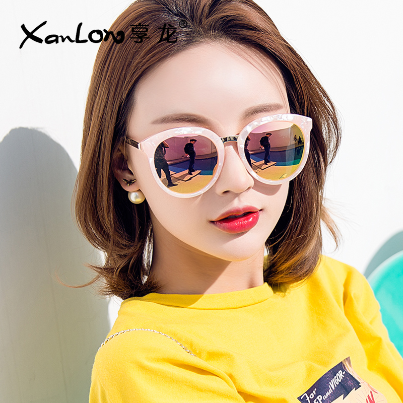 2017墨镜女偏光太阳镜个性圆长脸太阳镜眼镜女潮韩国明星同款眼睛