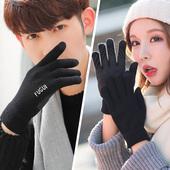 情侣触屏手套男女冬季针织毛线加绒保暖韩版学生骑行五指户外防滑