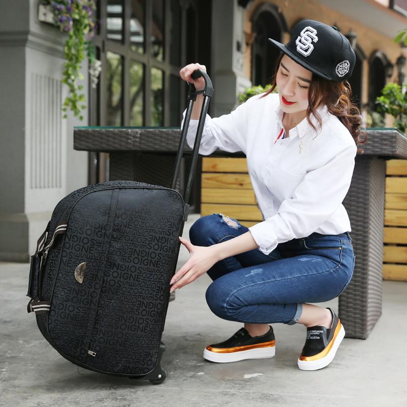 拉杆书包商务手拉包手提行李箱可背可拉双肩背包滑轮学生旅行箱图片