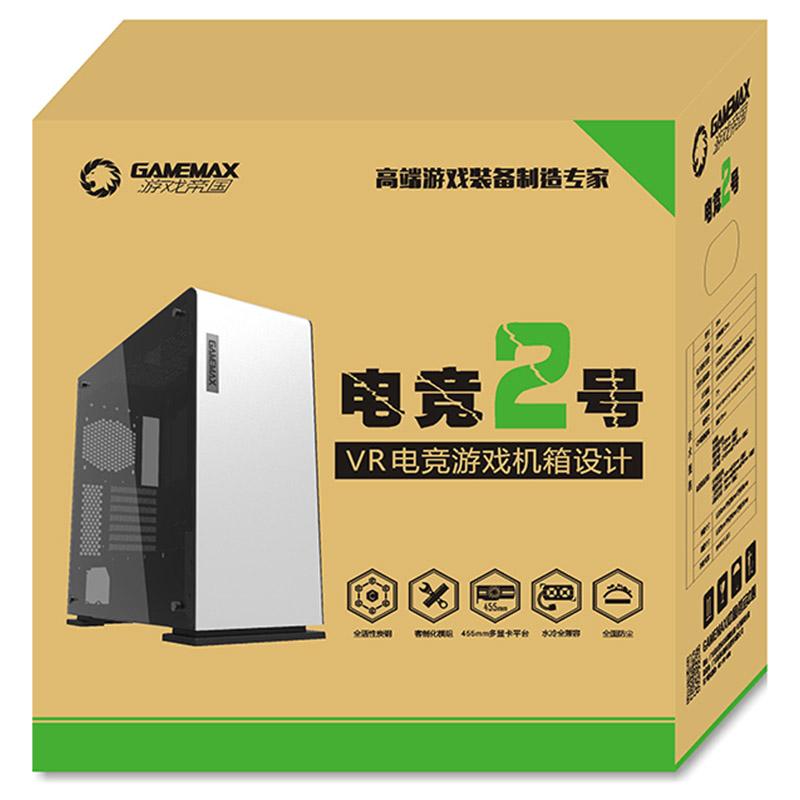 游戏帝国(GAMEMAX)电竞2号 全塔电竞机箱 双USB3.0/大侧透