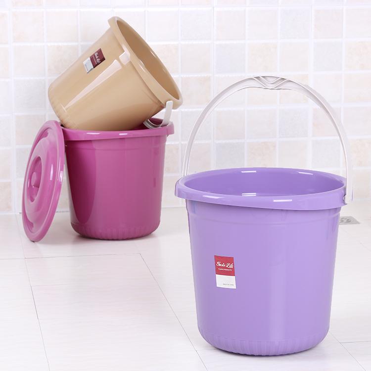 #家用加厚耐摔大号塑料桶手提水桶洗衣桶洗车泡脚储水桶带盖小号