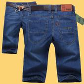 5分中裤 7分休闲马裤 牛仔短裤 宽松大码 夏季薄款 牛仔裤 男士 男五分裤