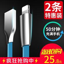 汉尼iPhone6数据线6s苹果X加长5s手机i6Plus六7P五ipad充电线器8p