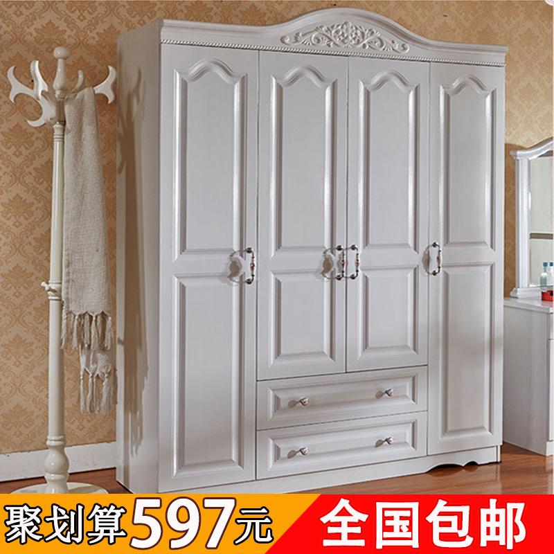 简约衣柜卧室2门3门4门欧式收纳实木衣柜组装储物柜