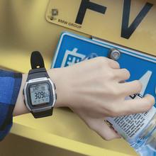 卡西欧学生户外运动数字显示方形电子男表手表W-96H-1B 1A 2A 9A