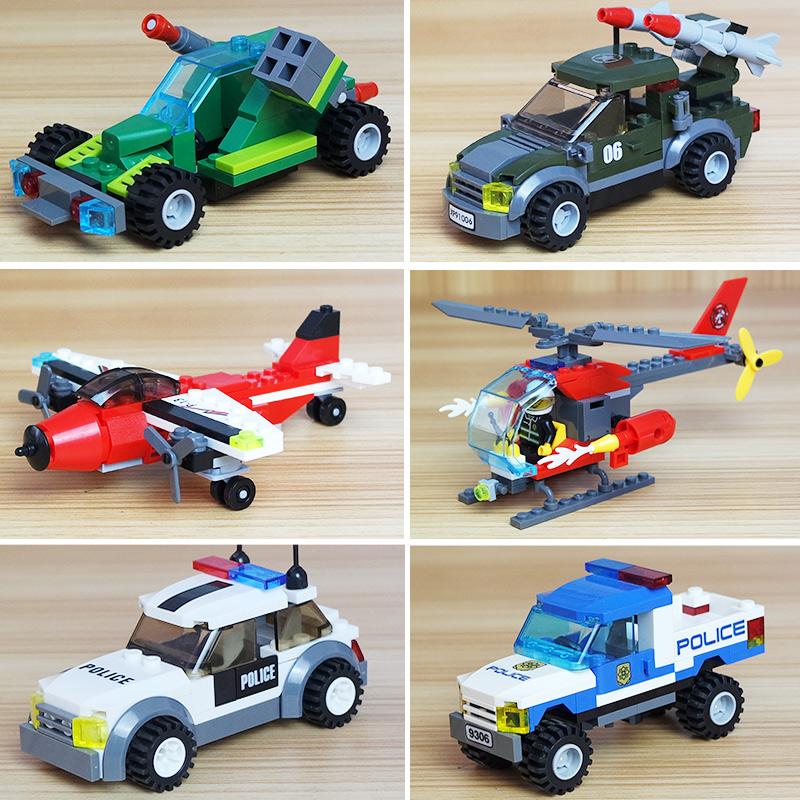 拼装积木益智玩具小学生小孩儿童兼容男孩汽车