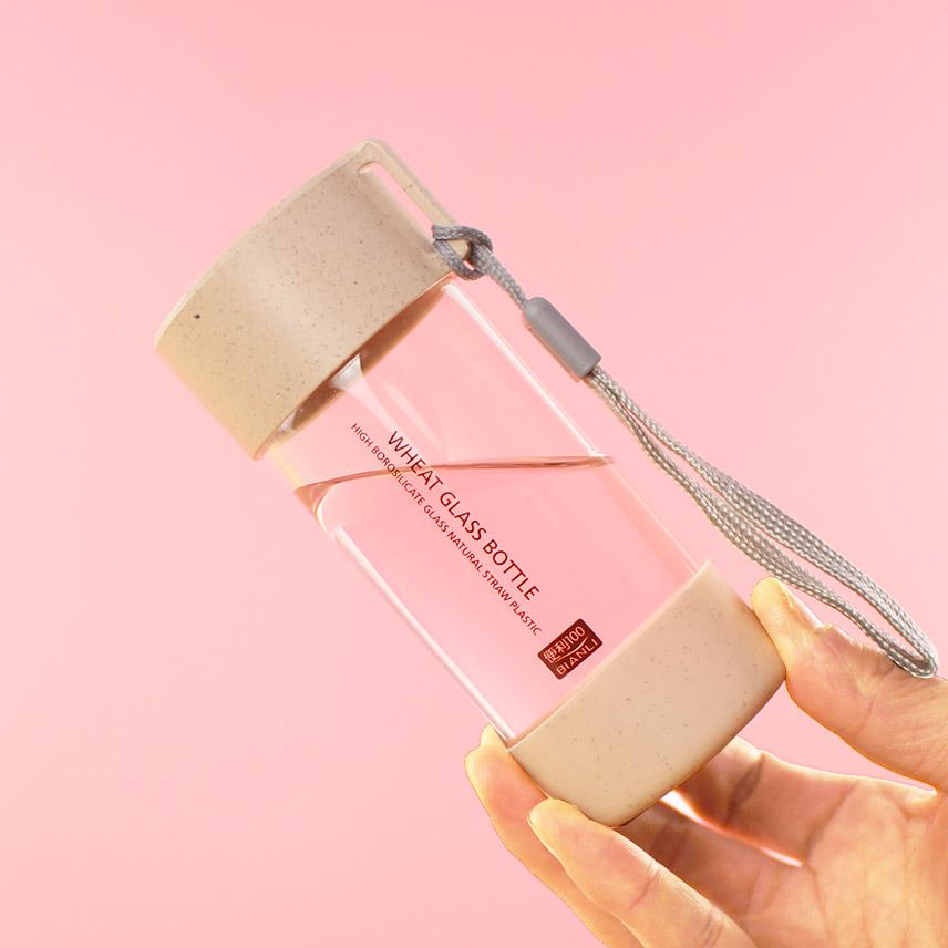 韩国麦秸秆玻璃杯迷你小巧可爱简约随手杯文艺清新学生麦香水杯子