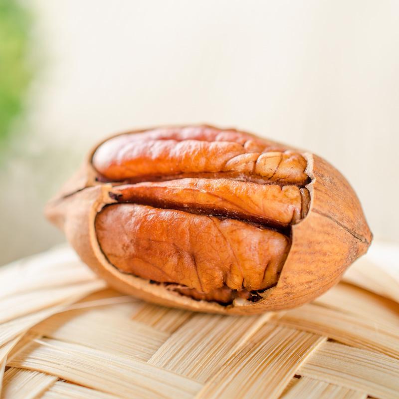 零食特产美国坚果干果山核桃奶油味碧根果长寿果500g包邮250gx2
