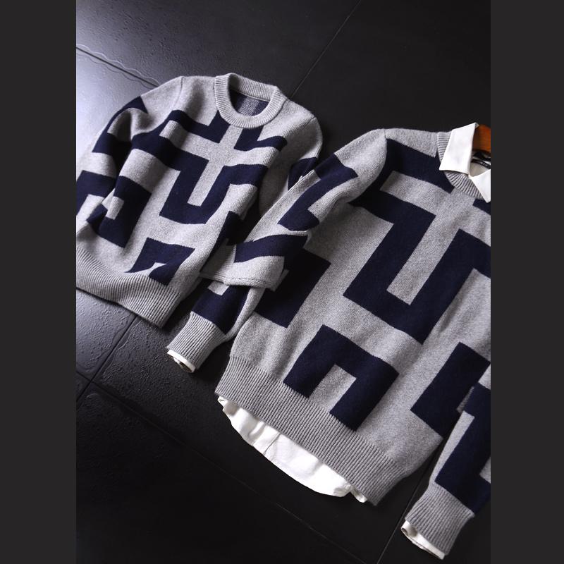 PT580 巴黎 厚实超软圆领套头毛衣男女款羊毛衫针织衫情侣毛衣