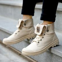 高帮帆布鞋男潮牌时尚户外登山鞋马丁靴复古街头学生百搭工装靴子