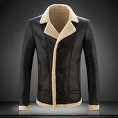 冬装韩版修身加厚羊羔毛皮棉衣男士加肥加大码男式短款青年外套潮