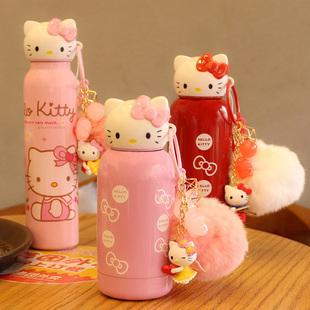 韩国创意可爱卡通猫头保温杯不锈钢便携女学生儿童水杯水壶包邮
