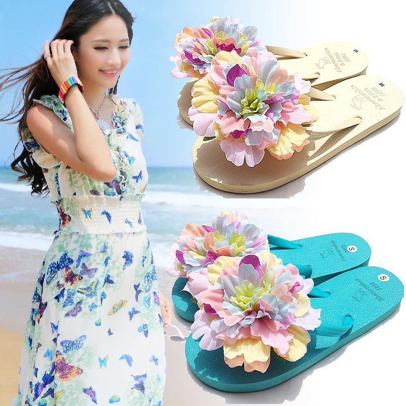 韩版学生人字拖新款可爱凉鞋女夏 平底百搭度假夹脚沙滩鞋女 凉鞋