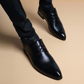 夏季正装尖头系带真皮内增高6cm皮鞋男士英伦韩版正装休闲男鞋子