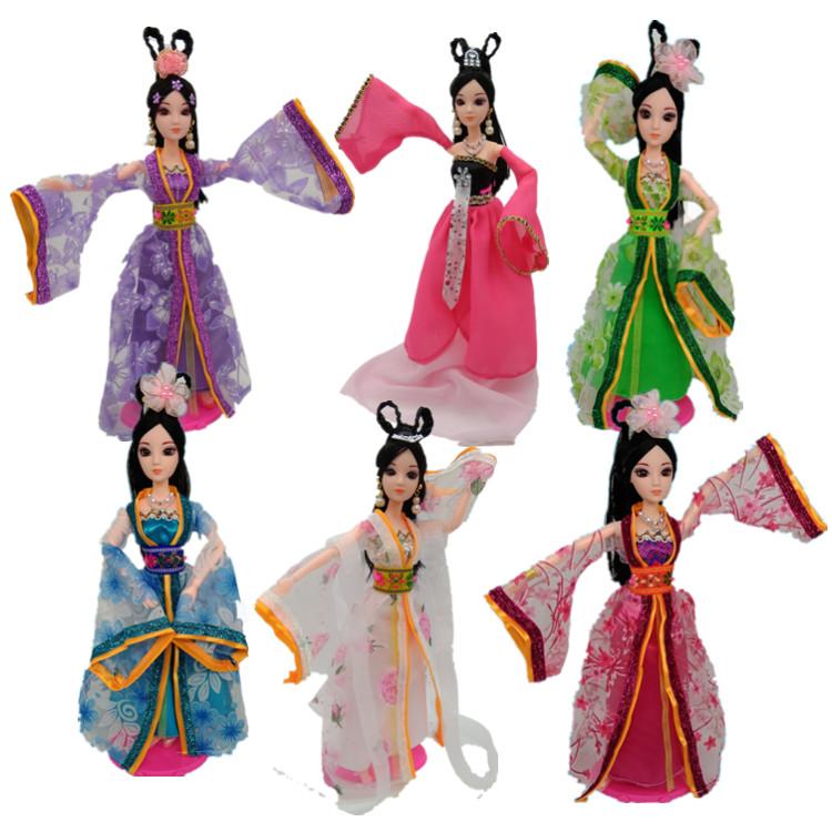 中国关节芭芘比玩具礼盒洋娃娃衣服古装罗丽花仙子孩子公主女孩还积木买什么拼装套装图片