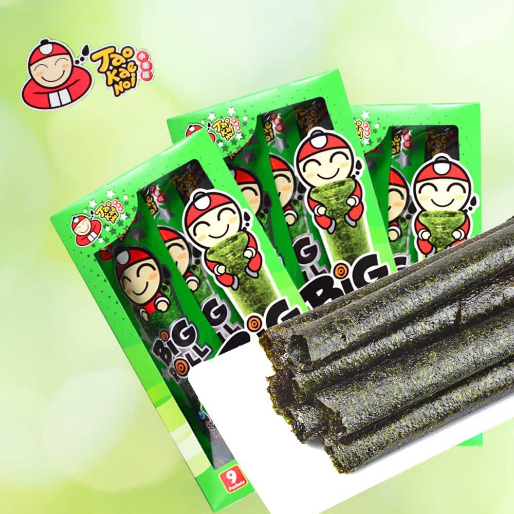 泰国进口零食品 小老板烤海苔卷香脆紫菜即食原味辛辣单盒bigroll