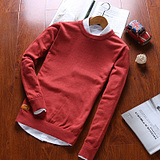 秋冬季新款毛衣男士韩版圆领针织衫加绒加厚打底衫男潮流毛线外套