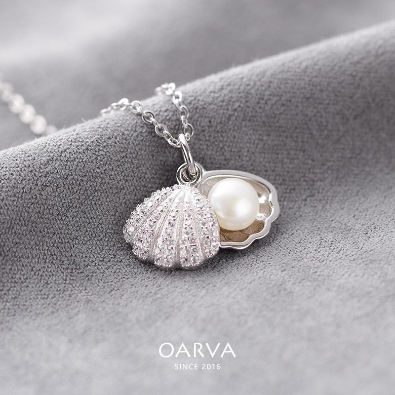 项链锁骨珍珠生日礼物创意贝壳时尚吊坠韩版
