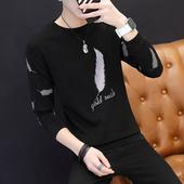 秋衣上衣男装 卫衣打底衫 长袖 青年宽松长袖 t恤圆领T恤潮流韩版 男士