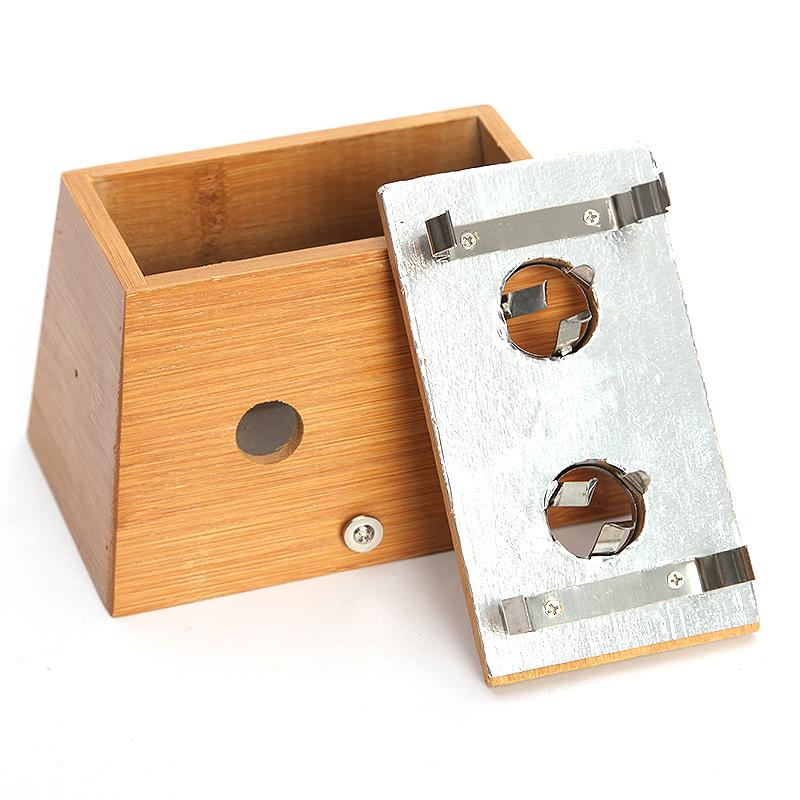 竹制二孔艾灸盒2眼艾灸盒2孔艾灸盒木质艾灸盒随身灸温灸器艾灸器
