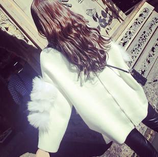 原宿两穿慵懒风小清新高领白色毛衣女秋冬宽松韩版中长款针织开衫