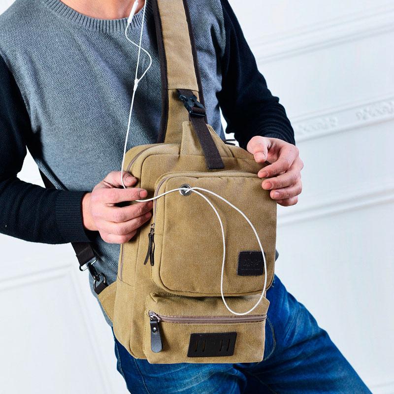 正品新款时尚复古潮流帆布男包女包单肩斜挎包运动休闲大容量胸包