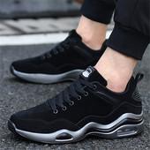 秋季男鞋潮鞋气垫鞋子男韩版加绒棉鞋男士休闲鞋跑步鞋冬季运动鞋