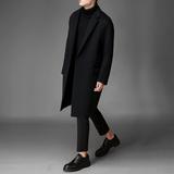 韩版呢子大衣男士双面羊绒毛呢大衣男中长款冬季宽松呢子外套