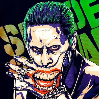 小丑x特遣队 自杀小队 dc漫画纯棉圆领短袖t恤 joker图片