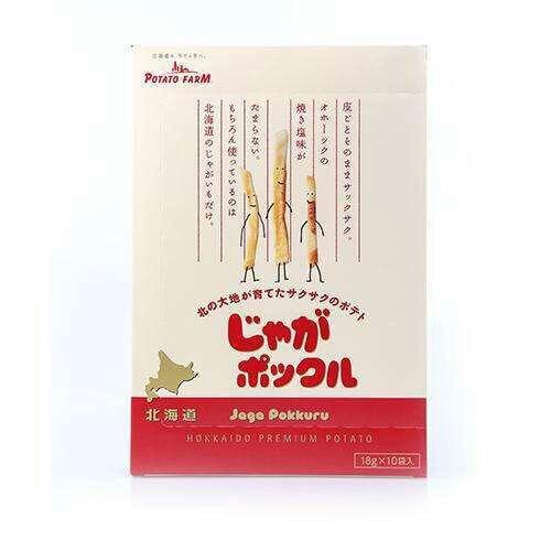 一盒包邮日本零食 北海道卡乐比 薯条 三兄弟赏味期限