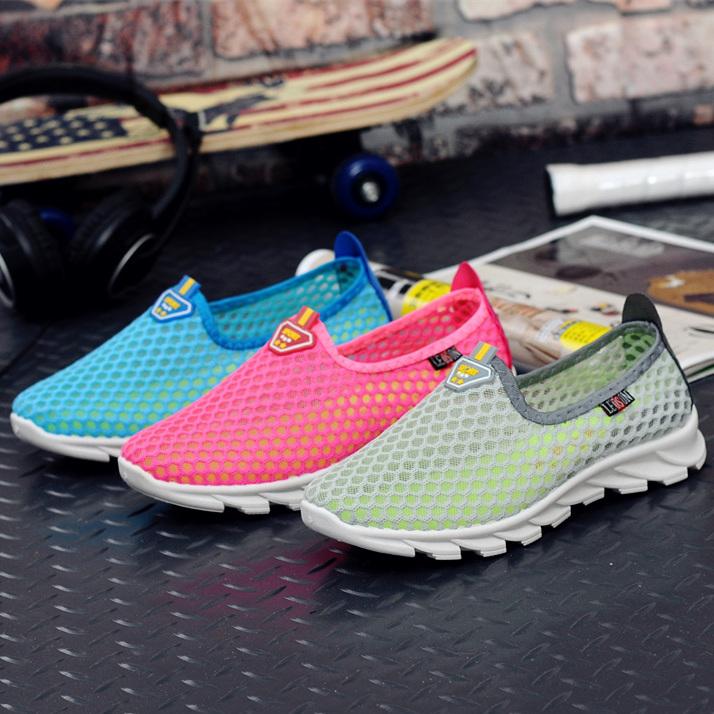 懒人单鞋透气平底运动休闲镂空女鞋老北京夏季布鞋