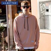 Lilbetter卫衣男连帽 韩版运动外套潮嘻哈卫衣假两件男士套头卫衣