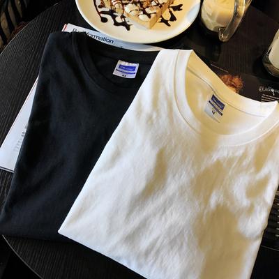 【天天特价】纯色圆领长袖打底T恤棉TEE 黑白 包邮
