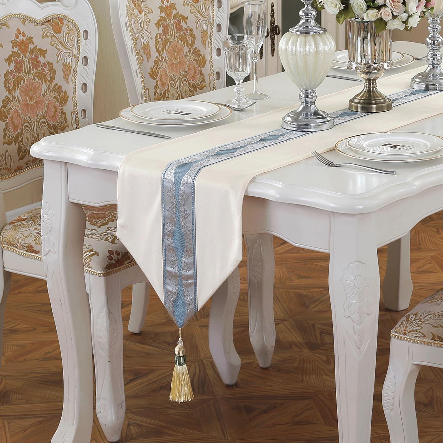 新中式简约桌旗现代欧式美式田园桌布茶几布桌垫床旗床尾巾