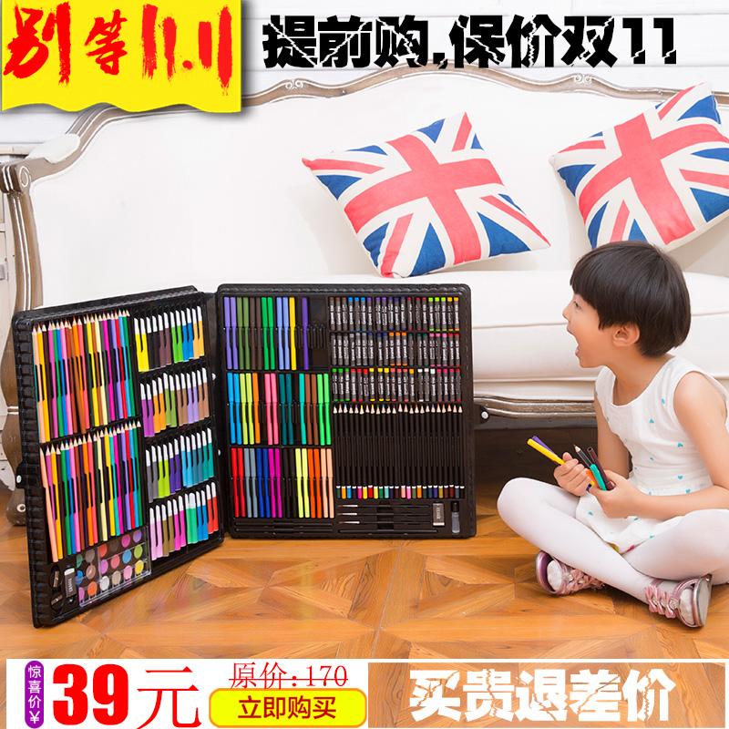 兒童繪畫筆套裝畫畫工具禮盒小學生水彩筆幼兒園學習文具用品禮物