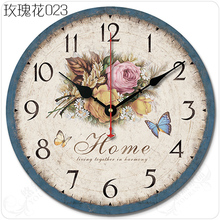 地中海复古美式大客厅欧式田园简约古典装饰创音静音壁挂钟表