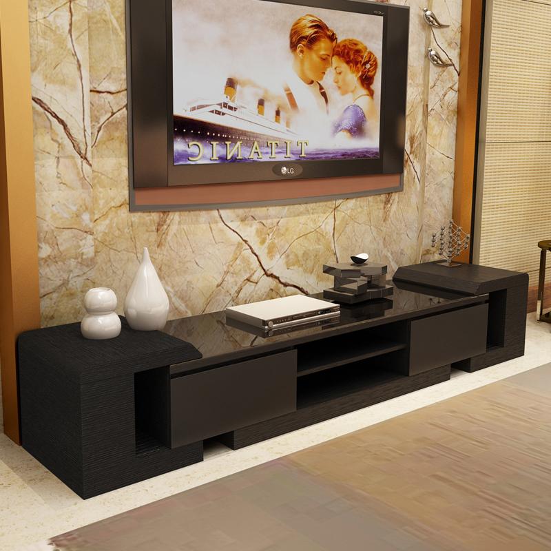 男人顾家钢化玻璃伸缩电视柜小户型客厅