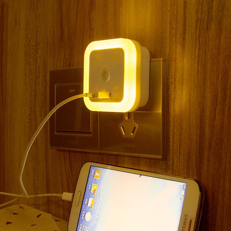 闪迪家居 创意节能小夜灯插电led光控感应婴儿喂奶起夜卧室灯