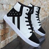 休闲板鞋 男士 男靴子内增高男鞋 潮白鞋 6cm街舞鞋 秋冬季白色高帮鞋